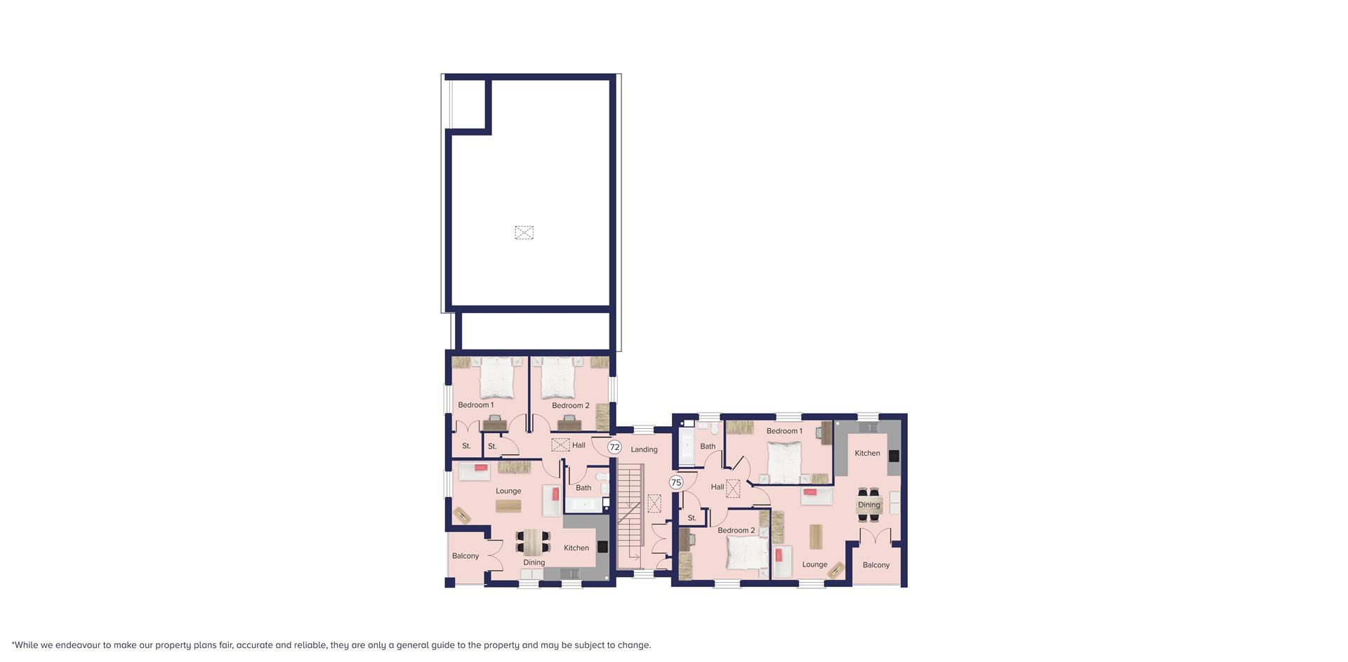 Kingfisher Grange, Bursledon_Floor plate_Plots 72